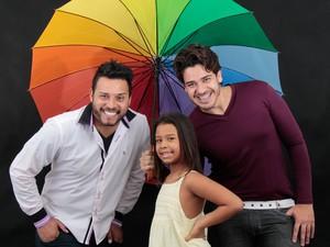 A família de Poá: Leandro, Fernanda e Ricardo (Foto: Ricardo Reis/ Arquivo Pessoal)