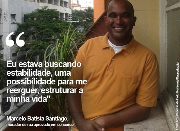 Marcelo Batista Santiago passou em 1º lugar no concurso público da MGS (Foto: Arquidiocese de Belo Horizonte/Reprodução)