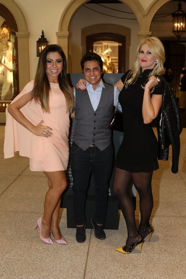 Andressa Ferreira, Thammy Miranda e Val Marchiori (Foto: Thiago Duran / Agnews)