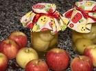 Compota de maçã com sorvete de creme Caminhos do Campo (Foto: Reprodução/RPC)