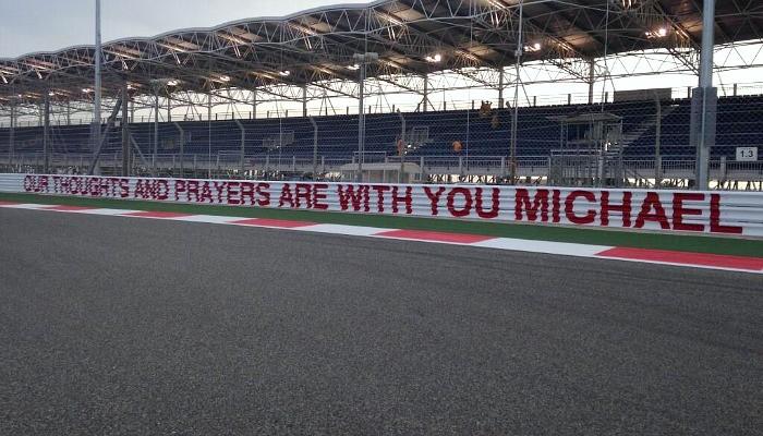 Homenagem do Circuito Internacional do Bahrein a Michael Schumacher