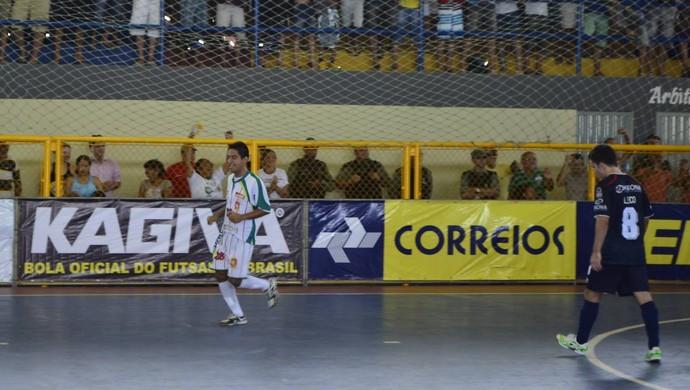 Gol Crateús final Taça Brasil futsal Crateús (Foto: Divulgação/CBFS)