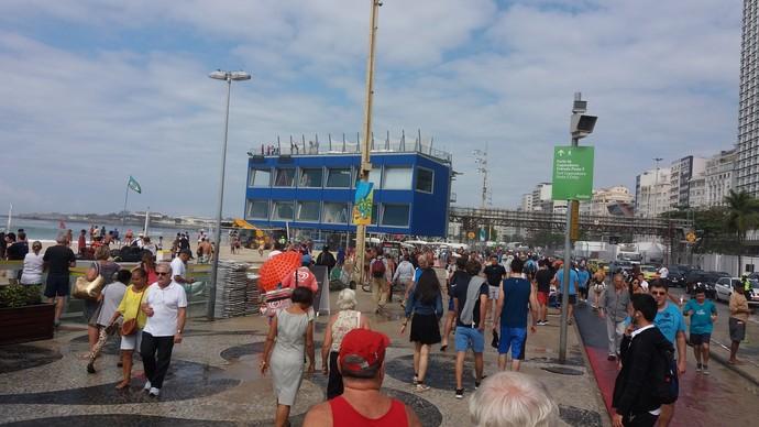 Ressaca de Copacabana  (Foto: Eduardo Orgler (GloboEsporte.com))