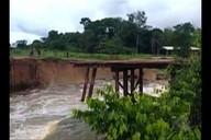 Ponte sobre rio Potirita cedeu no sudeste do Pará