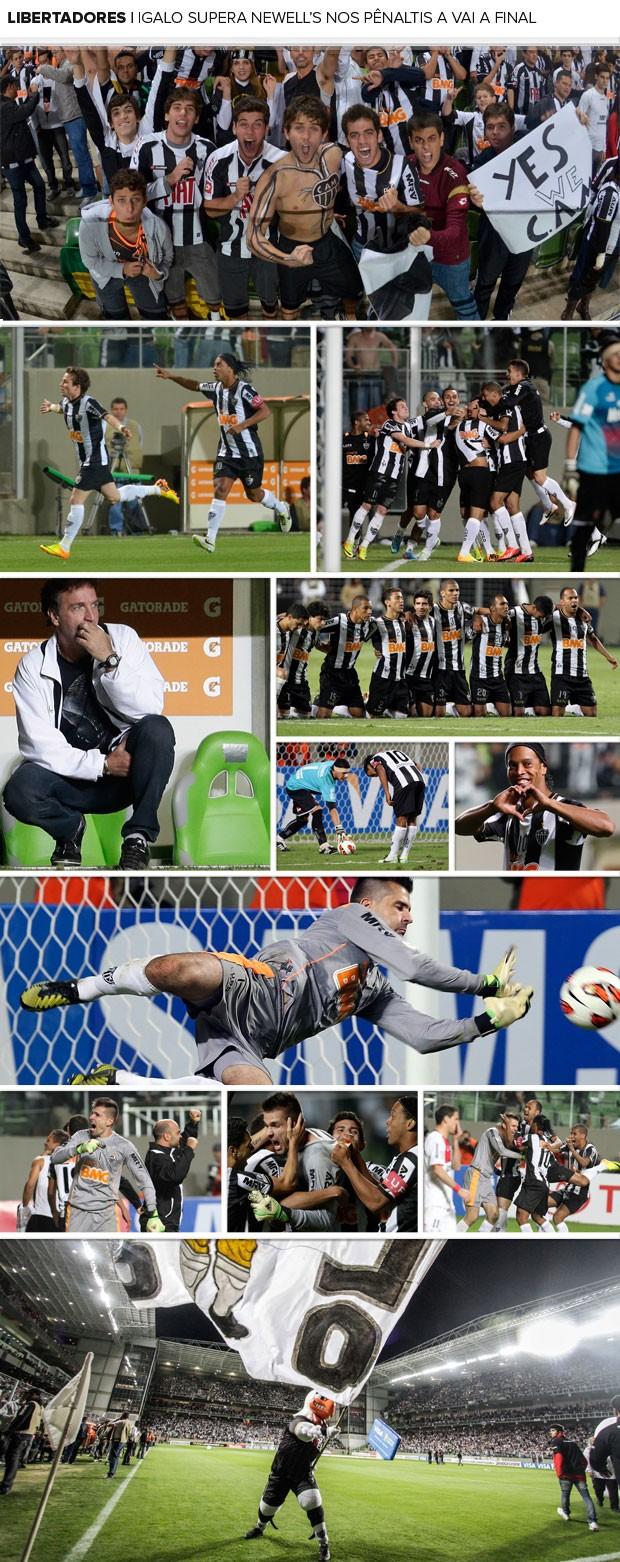 MOSAICO - Atlético-mg vitória nos pênaltis libertadores Newell's old boys (Foto: Agência Reuters)