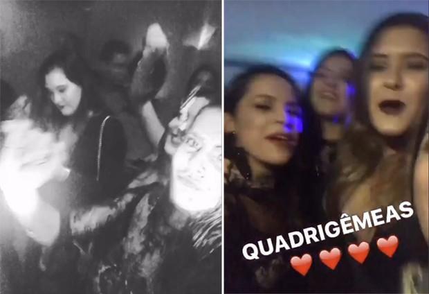 Emilly e Mayla curtem festa com filhas de William Bonner e Fátima Bernardes (Foto: Reprodução/Instagram)