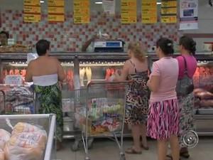 A carne foi o produto com maior alta de preços entre agosto e setembro em Sorocaba (Foto: Reprodução/TV Tem)