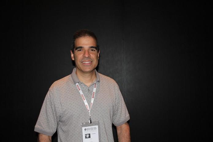 Ed Boon conversou com o TechTudo na BGS 2014 sobre o começo da franquia Mortal Kombat (Foto: Diego Borges/ TechTudo)