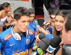 Patito Rodriguez, Santos (Foto: Lincoln Chaves / globoesporte.com)
