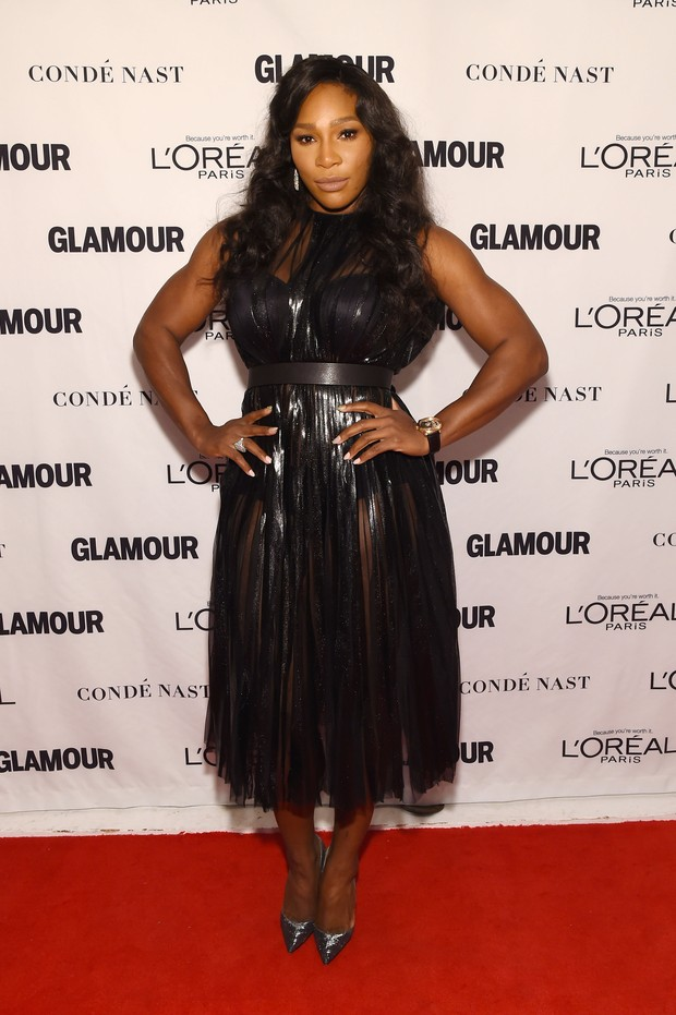 Serena Williams em premiação em Nova York, nos Estados Unidos (Foto: Larry Busacca/ Getty Images/ AFP)