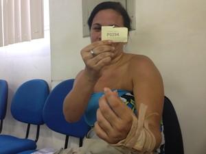 Aline Menezes já enfrentou uma perícia e aguarda a segunda (Foto: Natália Souza/G1)