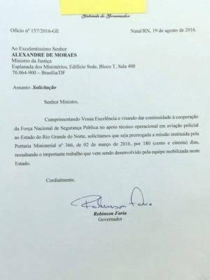Governador do RN pediu a prorrogação da presença da Força Nacional no estado (Foto: Reprodução)