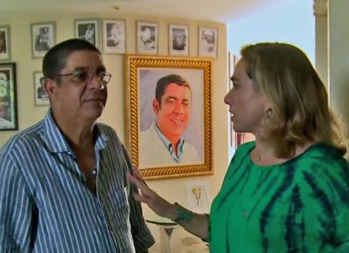 Zeca Pagodinho abre sua casa para Cissa Guimarães (Foto: Vídeo Show / TV Globo)