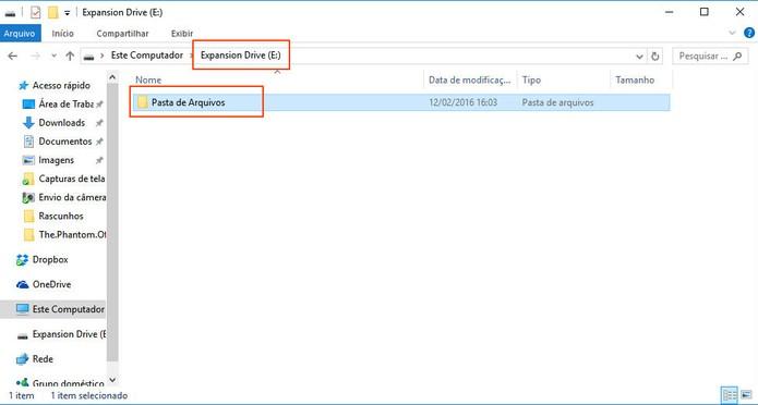 Crie uma pasta padrão para manter todos seus arquivos no HD Externo (Foto: Reprodução/Barbara Mannara)