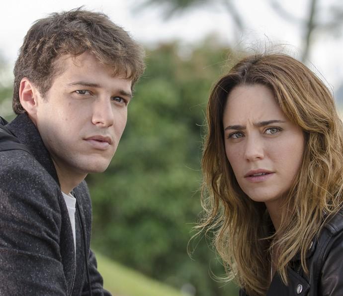 Eles também dividiram o set em 2014, na novela 'Sangue Bom' (Foto: Bob Paulino/Globo)