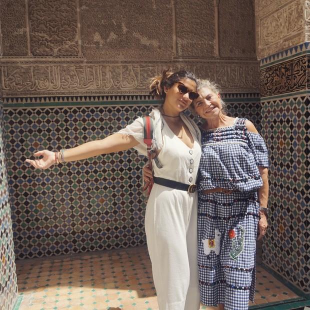 Giulia Costa na Medina de Fez (Foto: Reprodução/Instagram)