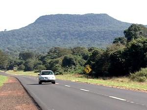 Parque Morro do Diabo está localizado em Teodoro Sampaio (Foto: Reprodução/TV Fronteira)