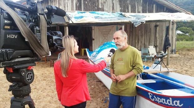 Pescadores artesanais serão tema de série da RBS TV (Foto: Luiz Carlos Souza/RBS TV)