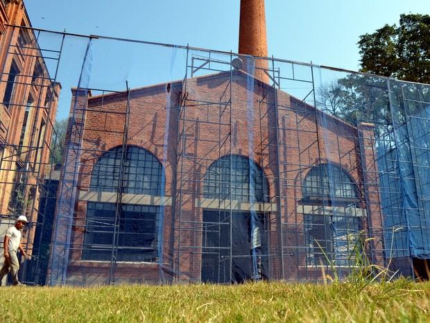Barracões do Engenho Central passam por reforma para receber Museu da Cana-de-Açúcar em Piracicaba (Foto: Leon Botão/G1)