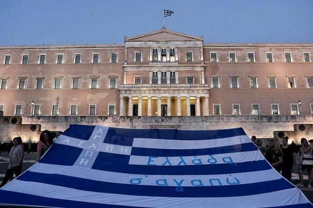 Manifestação na Grécia durante crise (Foto: MIlos Bicanski/Getty Images)