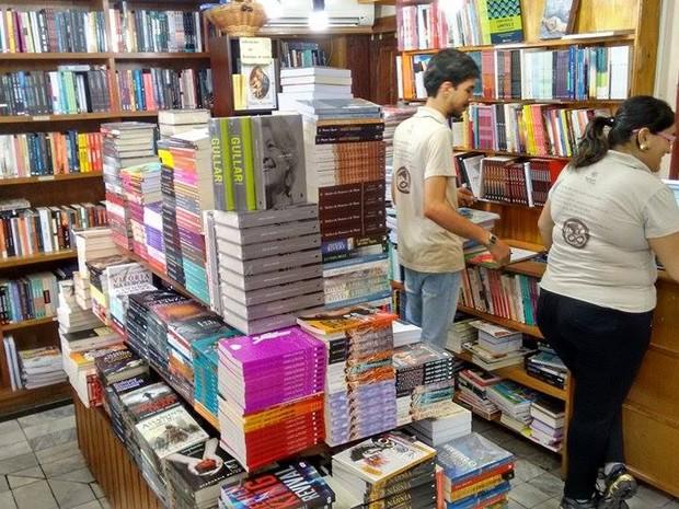 Livraria em Divinópolis (Foto: Ricardo Welbert/G1)