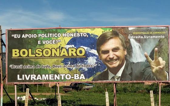 Outdoor de Jair Bolsonaro no interior da Bahia foi questionado pela Rede Sustentabilidade (Foto: Facebook)