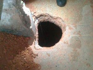 Um túnel foi encontrado na Penitenciária Estadual de Parnamirim (Foto: Divulgação/Sejuc-RN)