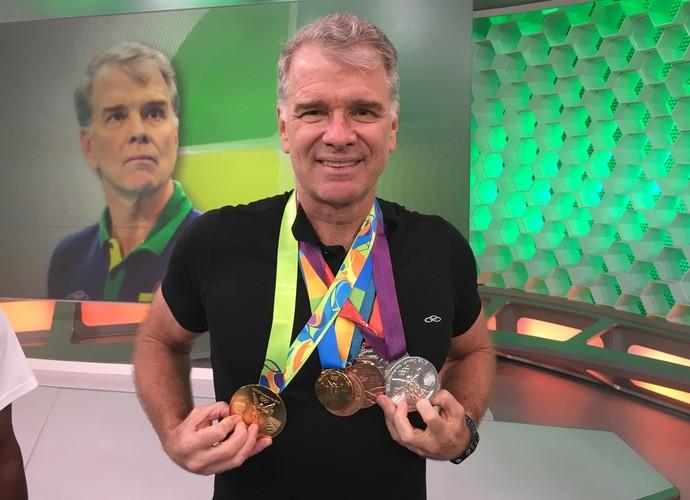 Bernardinho é homenageado no Esporte Espetacular (Foto: Marcos Uchoa)
