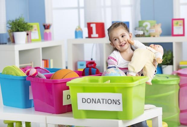 Doação infantil (Foto: Reprodução)