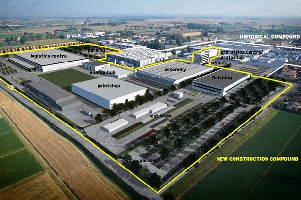 Nova fábrica da Lamborghini na Itália (Foto: Divulgação)