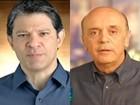 Haddad fala de habitação e Serra reconhece problemas em SP na TV