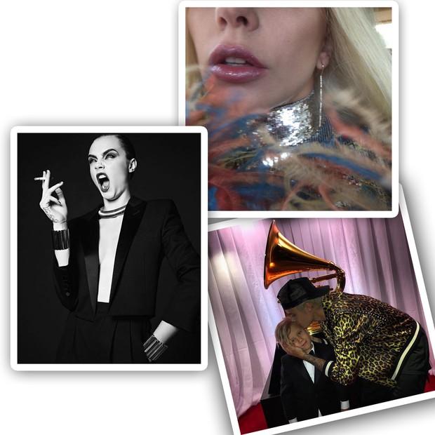 No Instagram, Cara Delevingne, Lady Gaga e Justin Bieber compartilham cliques vestindo looks da grife (Foto: Instagram/Reprodução)