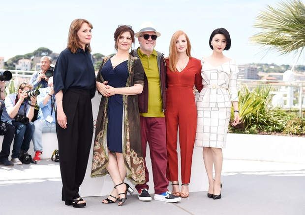 Maren Ade, Agnes Jaoui, Pedro Almodóvar, Jessica Chastain e Fan Bingbing (Foto: Getty Images)