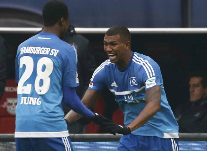 Wallace Hamburgo x RB Leipzig (Foto  Reuters) ad7173727f7b0