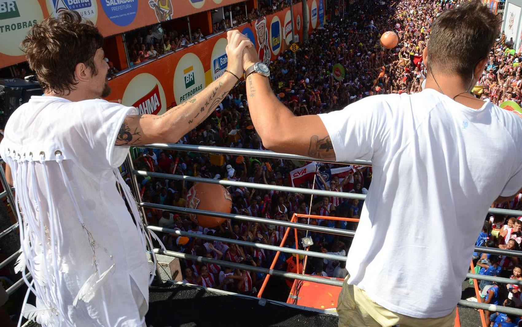 Saulo e Felipe Pezzoni (Foto: Renato Rios/G1)