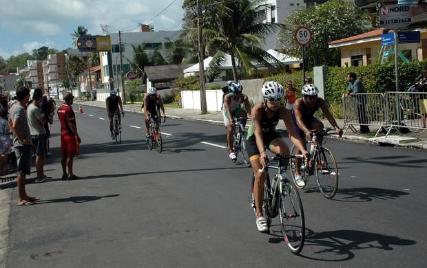 Triatlo, Campeonato Brasileiro de Triatlo, prova de ciclismo (Foto: Richardson Gray / Globoesporte.com/pb)