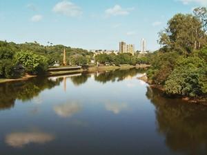 Paisagem do Rio Piracicaba (Foto: Domingos Sávio Monteiro/Tg)