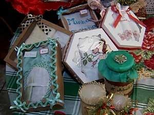 Alguns produtos vendidos no bazar (Foto: Reprodução / TV Integração)