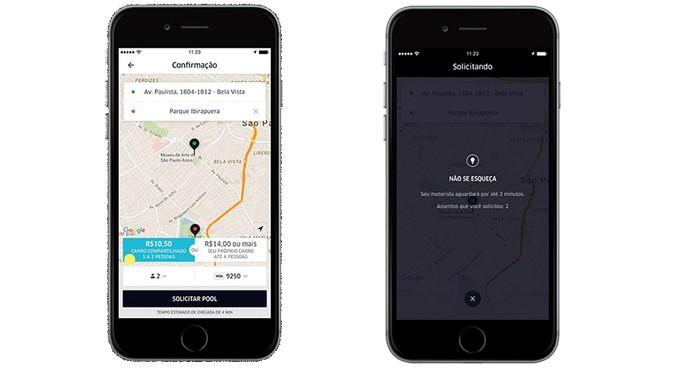 Solicite o UberPOOL com o preço mostrado no app (Foto: Divulgação/Uber)