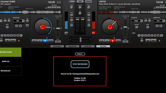 how to find virtual dj recording