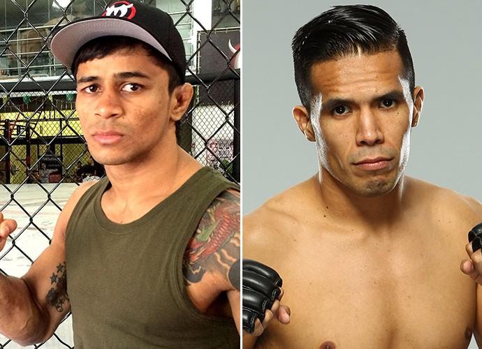 Tiago Trator e Mike de la Torre UFC (Foto: Editoria de Arte)