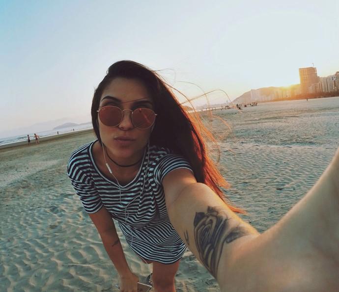 33ea59c9edcf4 Coleguinha apostou em óculos espelhados no verão (Foto  Arquivo pessoal)