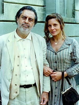 Ao lado do colega de elenco, Antônio Fagundes (Foto: Cedoc / TV Globo)