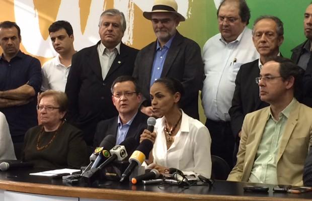 A candidata a presidente Marina Silva durante entrevista no comitê de campanha em SP (Foto: Amanda Previdelli/G1)