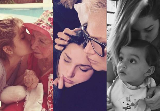 Sasha com a avó Alda, a mãe e o irmãozinho David (Foto: Reprodução/Instagram)