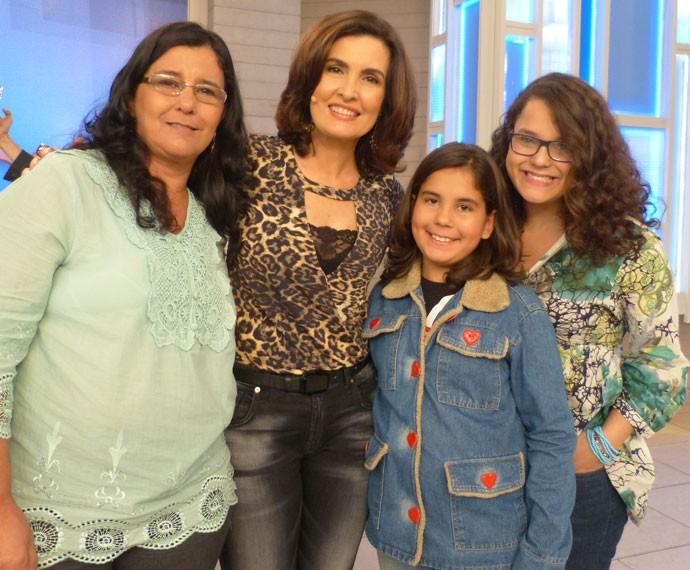 Mais uma foto nos bastidores do programa (Foto: Marcele Bessa/Gshow)