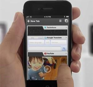 Tela do Chrome para iPhone  (Foto: Reprodução)