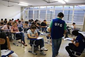 Vestibular UFG (Foto: Carlos Siqueira)