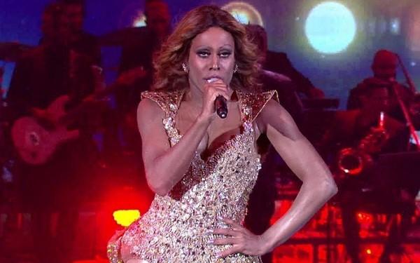 O ator, que se apresentou como Beyoncé no Domingão do Faustão, foi o vencedor do quadro Show dos Famosos (Foto: Reprodução/ TV Globo)