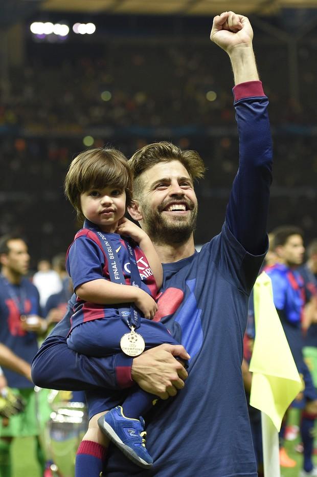 Milan, filho de Shakira com o jogador Gerard Piqué (Foto: AFP)
